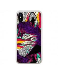 Coque iPhone X et XS Color Husky Chien Loup - Danny Ivan