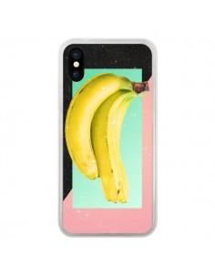 Coque iPhone X et XS Eat Banana Banane Fruit - Danny Ivan