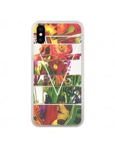 Coque iPhone X et XS Facke Flowers Fleurs - Danny Ivan