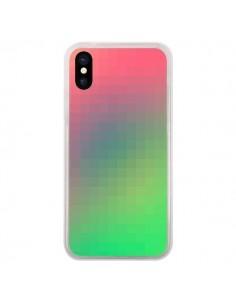 Coque iPhone X et XS Gradient Pixel - Danny Ivan