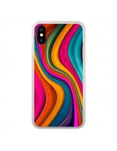 Coque iPhone X et XS Love Color Vagues - Danny Ivan