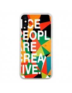 Coque Nice people are creative art pour iPhone X - Danny Ivan