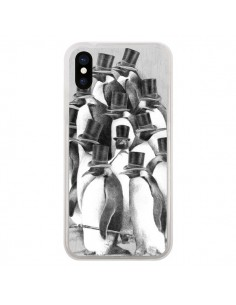 Coque Pingouins Gentlemen pour iPhone X - Eric Fan