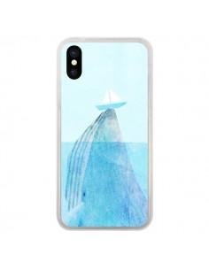 Coque iPhone X et XS Baleine Whale Bateau Mer - Eric Fan