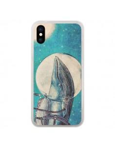 Coque iPhone X et XS Baleine Whale Voyage Journey - Eric Fan