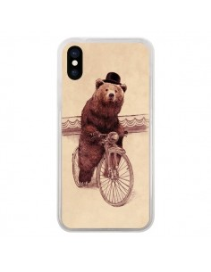 Coque iPhone X et XS Ours Velo Barnabus Bear - Eric Fan