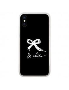 Coque Be Chic Noeud Papillon Blanc pour iPhone X - Léa Clément