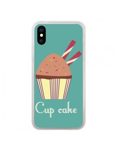 Coque iPhone X et XS Cupcake Chocolat - Léa Clément