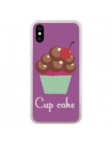 Coque iPhone X et XS Cupcake Cerise Chocolat - Léa Clément