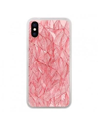 coque iphone x rouge cerise