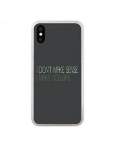 Coque I don't make sense, I make Dollars, gris pour iPhone X - Shop Gasoline