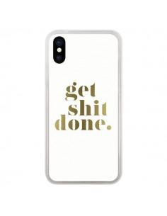 Coque Get Shit Done Doré pour iPhone X - Shop Gasoline