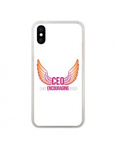 Coque CEO Chief Encouraging Officer Rose pour iPhone X - Shop Gasoline