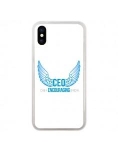 Coque iPhone X et XS CEO Chief Encouraging Officer Bleu - Shop Gasoline