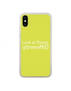 Coque iPhone X et XS Look at Different Things Yellow - Shop Gasoline