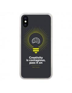 Coque iPhone X et XS Creativity is contagious, Einstein - Shop Gasoline