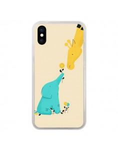 Coque Elephant Bebe Girafe pour iPhone X - Jay Fleck