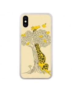 Coque Girafe Amis Oiseaux pour iPhone X - Jay Fleck