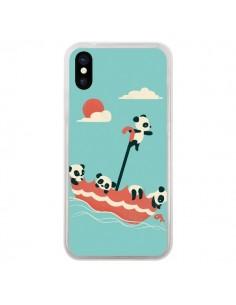 Coque Parapluie Flottant Panda pour iPhone X - Jay Fleck