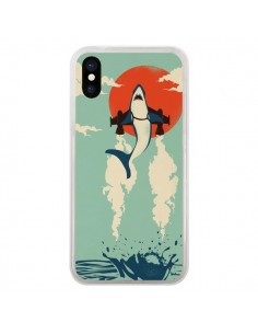 Coque Requin Avion Volant pour iPhone X - Jay Fleck