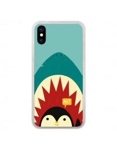 Coque Pingouin Requin pour iPhone X - Jay Fleck