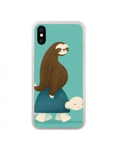 Coque Tortue Taxi Singe Slow Ride pour iPhone X - Jay Fleck
