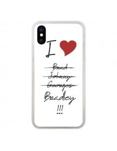 Coque I love Bradley Coeur Amour pour iPhone X - Julien Martinez