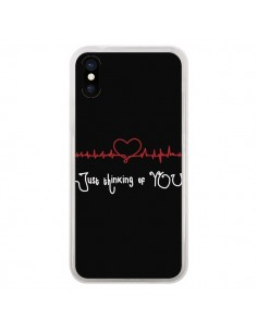 Coque Just Thinking of You Coeur Love Amour pour iPhone X - Julien Martinez