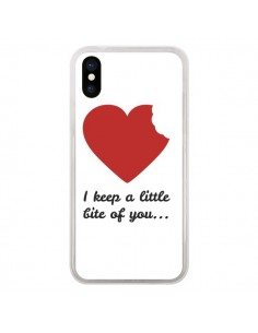 Coque I Keep a little bite of you Coeur Love Amour pour iPhone X - Julien Martinez