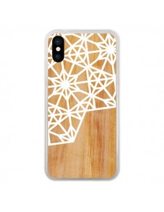 Coque iPhone X et XS Frozen Stars Etoile Bois Azteque Aztec Tribal - Jenny Mhairi