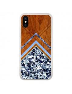 Coque iPhone X et XS Sequin Geometry Bois Azteque Aztec Tribal - Jenny Mhairi