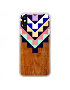 Coque Wooden Tribal Bois Azteque Aztec Tribal pour iPhone X - Jenny Mhairi