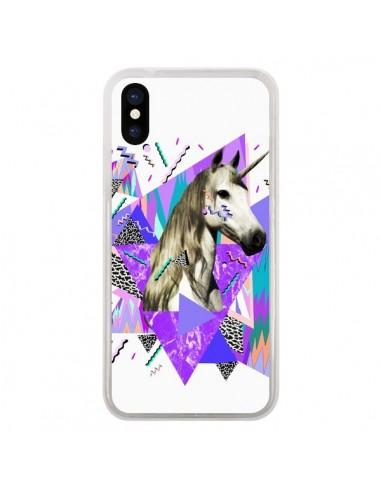 Coque iPhone X et XS Licorne Unicorn Azteque - Kris Tate