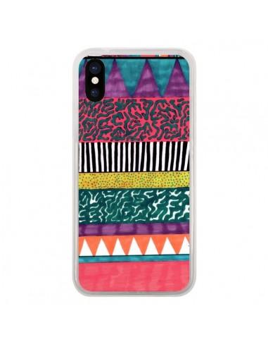 Coque iPhone X et XS Azteque Dessin - Kris Tate