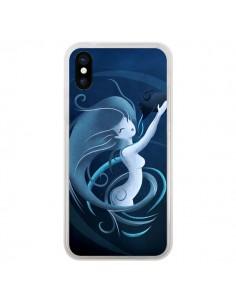 Coque Aquarius Girl La Petite Sirene pour iPhone X - LouJah