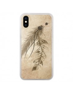 Coque Bohemian Feather Plume Attrape Reves pour iPhone X - LouJah
