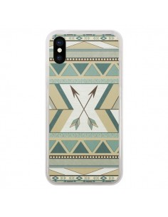 Coque Aztec Pattern Arrows Fleche Azteque Tribal pour iPhone X - LouJah