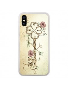 Coque Key Lucky Clef Flower pour iPhone X - LouJah