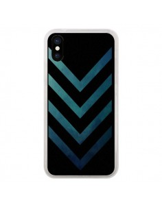 Coque Blue Black Arrow Fleche pour iPhone X - LouJah