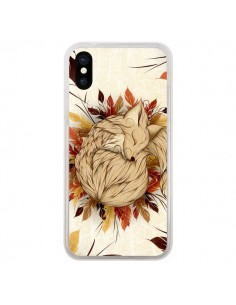 Coque Night Fall Renard Automne pour iPhone X - LouJah