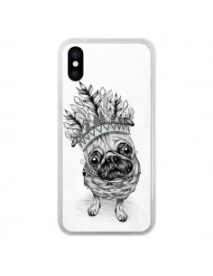 Coque Indian Dog Chien Indien Chef Couronne pour iPhone X - LouJah