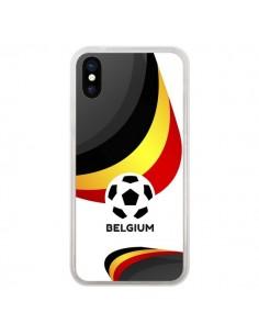 Coque Equipe Belgique Football pour iPhone X - Madotta