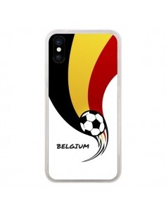 Coque Equipe Belgique Belgium Football pour iPhone X - Madotta