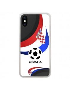 Coque Equipe Croatie Football pour iPhone X - Madotta