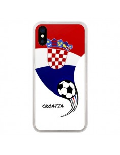 Coque Equipe Croatie Croatia Football pour iPhone X - Madotta