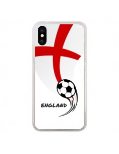 Coque Equipe Angleterre England Football pour iPhone X - Madotta