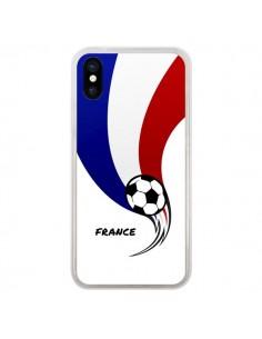 Coque Equipe France Ballon Football pour iPhone X - Madotta