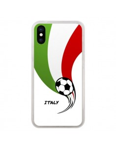 Coque Equipe Italie Italia Football pour iPhone X - Madotta