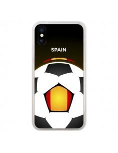 Coque Espagne Ballon Football pour iPhone X - Madotta