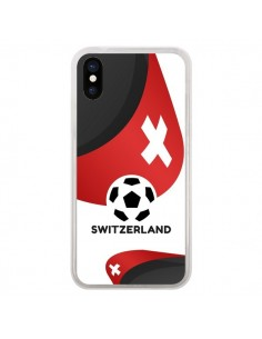 Coque Equipe Suisse Football pour iPhone X - Madotta